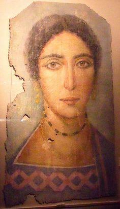 Portrait du Fayoum de femme | musée mander Riom
