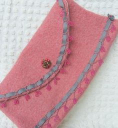 REDUCED  Vintage Inspired Felted Wool Evening by MadVarietyShow, $35.00