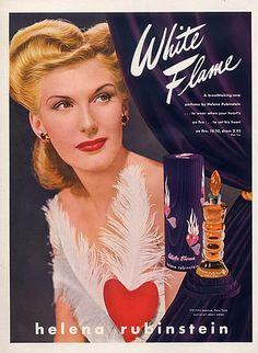 Helena Rubinstein (Perfumes) 1943  - White Flame
