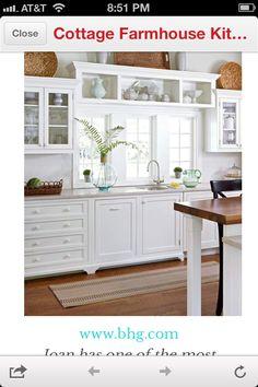 window dressings, idea, open shelves, basket, kitchen windows