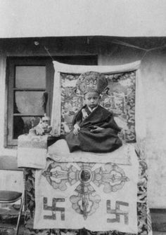 At 4 years old. Gyalwang Drukpa.