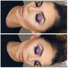 Pretty in purple by MUA: gissellemakeupmolina featuring her Galaxy Chic Baked Eyeshadow Palette. Pretty Makeup, Love Makeup, Makeup Inspo, Beauty Makeup, Makeup Looks, Hair Makeup, Hair Beauty, Beauty Stuff, Makeup Ideas