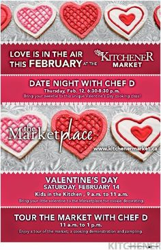 Stuff to do with your kids in Kitchener Waterloo: Valentine's Day Celebrations At Kitchener Market + Contest click the pic to enter! #ValentinesDay