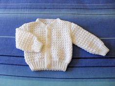 Craft Passions: Unisex Baby Cardigan#Free #crochet pattern link h...