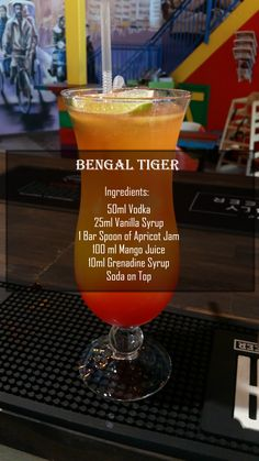 Indico Bengal Tiger Cocktail With Recipe