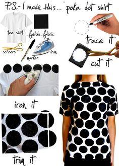 DIY: polka dot shirt