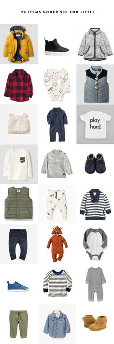 24 Items under $30 for Little One Clothes. Great deals on Baby Clothes this fall from The Fresh Exchange