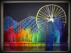 world of color, crayon art by Silly Hammy