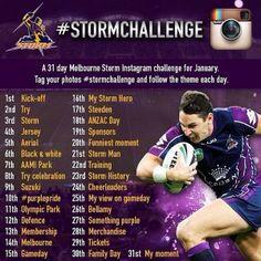 Melbourne Storm 30 Day Challenge on Instagram.