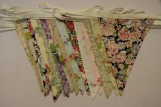 Vintage Floral Wedding Bunting for hire, from £1.50 per metre for a 4 day hire period. Quality fabric bunting handmade in Chester,  No two runs of this range are the same, the range has a fabric theme rather than a colour scheme - fabrics will vary from the photo. Rustic Boho Wedding, Floral Wedding, Bunting Ideas, Wedding Bunting, Fabric Bunting, Chester, Vintage Floral, Color Schemes, Period