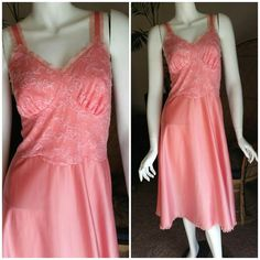 79fbe8135c2 AS IS 50 s Ballerina Pink Nightgown