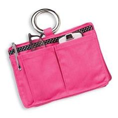 purse organizer.  keep essentials in the pockets and pouches and switching purses is much easier :)