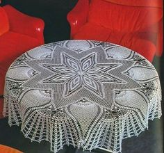 Large Star and Pineapple tablecloth Crochet Pattern. More Patterns Like This!