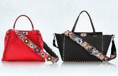 Fendi Valentino Handbag Guita Straps