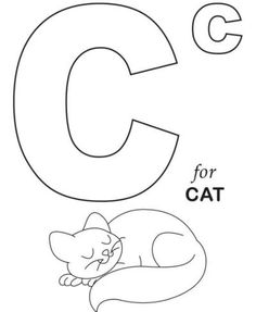 Letter c coloring pages to download and print for free