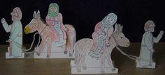 Maria en Jozef met ezel