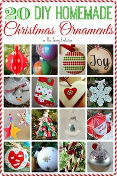 20 Delightful DIY Homemade Christmas Ornaments | The Jenny Evolution
