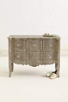 Hand-Embossed Dresser #anthrofav #greigedesign