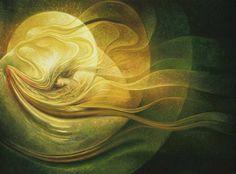 Freydoon Rassouli - 'Celestial Union' Spiritual art and mystical paintings by visionary artist Canvas Artwork, Oil On Canvas, Romantic Artwork, Visionary Art, Mellow Yellow, Beauty Art, Surreal Art, Celestial, New People