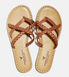 American Eagle Outfitters  AEO Strappy Braided Sandal