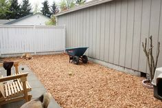 Pet-Friendly Mulch in a Yard | Building a Dog Run