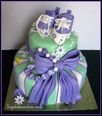 Purple Baby Shower Cake