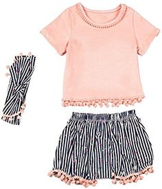 65bd94cac0ce online shopping for Messy Code Baby Girls Outfits Clothing Sets Boutique  Toddlers Training Shorts With Headbands from top store.