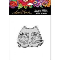 Stampendous - Laurel Burch - Feline Face Rubber Stamp