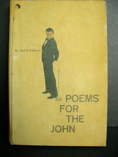 Poems For The John 1960 Vintage Book Jackie Kannon Jokes Poetry Aged Book HC