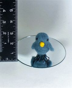 Baby Blue Bird Needle Felted Miniature Soft Sculpture - pinned by pin4etsy.com