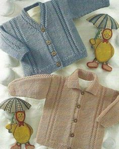 Baby Knitting Patterns Coat Waistcoat, V Neck Cardigan and Double Knitting Patterns, Sweater Knitting Patterns, Coat Patterns, Knitting Stitches, Baby Patterns, Diy Crafts Knitting, Knitting For Kids, Free Knitting, Cardigan Bebe