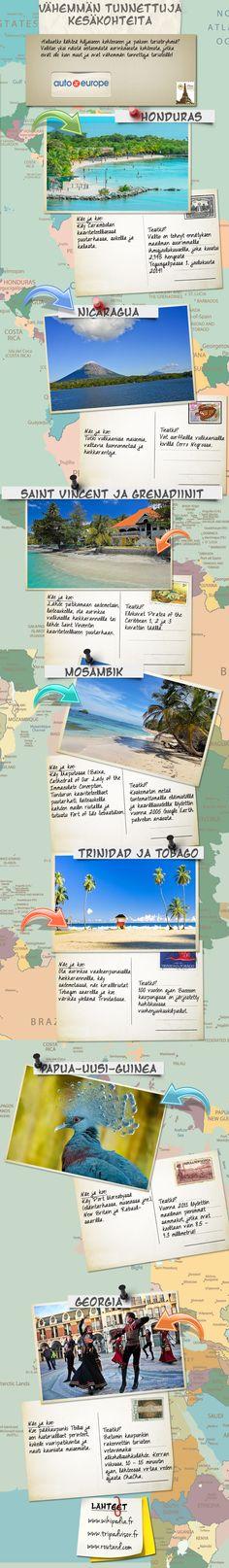Infografiikka: Vähemmän tunnettuja kesäkohteita - Muut infografiikkamme löydät täältä: www.autoeurope.fi