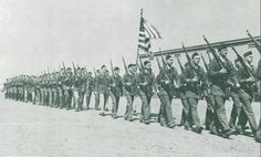 ROTC on parade grounds behind Hayward Field 1943.  From the 1943 Oregana (University of Oregon yearbook).  www.CampusAttic.com