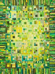 Love the color, and the irregular border: Quilt by Melody Crust