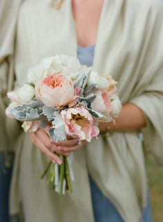 Bridesmaid bouquet. Photography: Carrie Patterson Photography - carriepattersonphotography.com  Read More: http://www.stylemepretty.com/2015/05/21/rustic-romantic-jackson-hole-ranch-wedding/