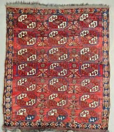 Exceptional M.A.D. Ersari or possibly Uzbek? little piece, Wedding rug size, rare? In very good original condition, thick pile, kilim ends, selvages and many great colors. Very charming colorful little one, obviously  ...