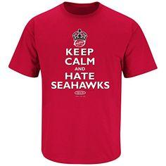 Arizona Cardinals Fans. Keep Calm and Hate The Seahawks. T-Shirt