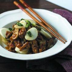 awesome Stir-Fried Rice Cakes with Pork