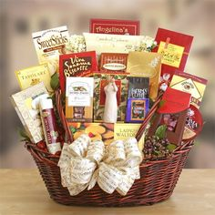 Peace, Prayer and Blessings Send loving wishes of peace and sympathy when you give this thoughtful basket of treasured memories and gourmet foods. Wine Country Gift Baskets, Gourmet Gift Baskets, Gourmet Gifts, Gourmet Recipes, Gourmet Foods, Food Gifts, Chocolate Drizzled Popcorn, Chocolate Wafer Cookies, Chocolate Covered Cherries