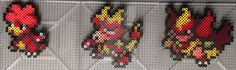 #126, #240, #467 Magby Family Perlers by TehMorrison on DeviantArt