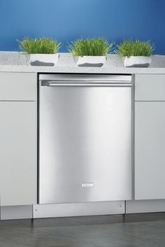 Electrolux Semi-Integrated Dishwasher w/ IQ-Touch™ Controls - Stainless Steel. Integrated Dishwasher, Built In Dishwasher, High End Kitchens, Home Kitchens, Brick Store, Kitchen Remodel, Building A House, Kitchen Design, Sweet Home