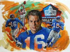 e95d474eb Frank Gifford New York Giants - 2014 Honoree HOF art. Painted by Doug West.