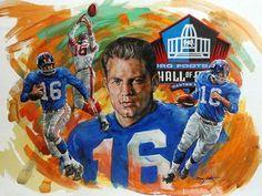 Frank Gifford New York Giants - 2014 Honoree HOF art. Painted by Doug West. c4dec499f