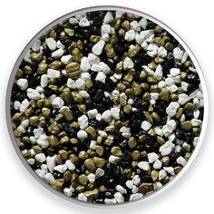 Scarabeus II. Farebné kamenivo dostupné v rôznych frakciách.  Vhodné pre kamenné koberce, mozaikové omietky, dekoračné účely, zoológiu. #art4you #art4youpodlahy #podlaha #podlahy #epoxid #polyuretanovépodlahy #polyuretan #epoxidovépodlahy #farebnékamenivo #farebnýpiesok