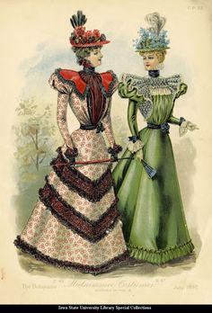 Day dresses, 1897, The Delineator