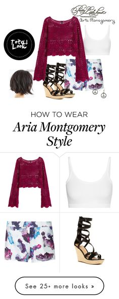 """Aria Montgomery Coachella Style"" by sayashadowhunter on Polyvore featuring Helmut Lang, H&M, Topshop and Joe's Jeans"