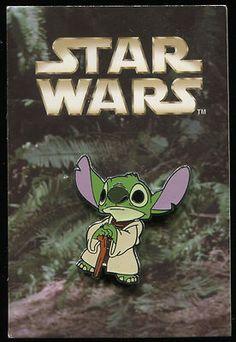 Star Wars Mystery Stitch as Yoda on Card Disney Pin 61071. $19.99.