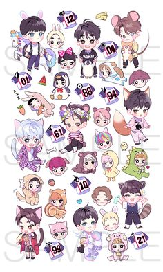EXO! Wh-what is this undeniable adorableness that I have found!? The art is fantastic and terribly cute! >///w///<