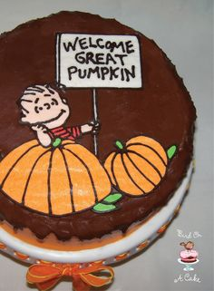 Aw, that is such a sad story! Great Pumpkin Cake - with a tutorial for making a buttercream transfer. {Bird On A Cake} Cake Decorating Techniques, Cake Decorating Tutorials, Cookie Decorating, Decorating Ideas, Cake Cookies, Cookies Et Biscuits, Cupcake Cakes, Diy Cupcake, Cupcake Toppers