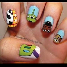 toy story nail art! Hailyn would LOVE these!!:)
